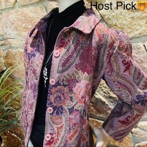 Coldwater Creek Tapestry Jacket